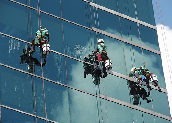 Rope Access technicians.