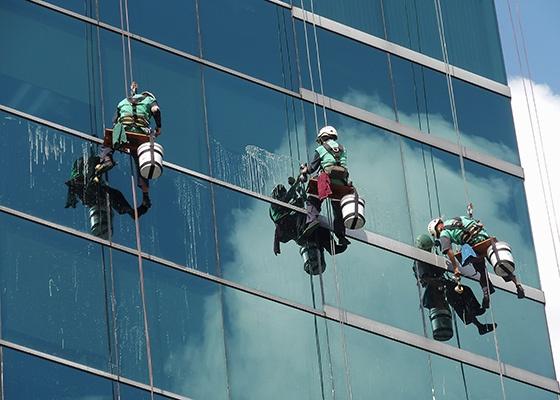 Rope Access technicians.