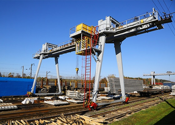 Industrial Gantry over a railway