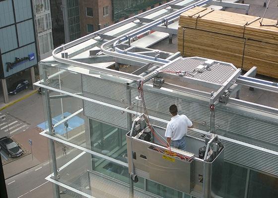 Rostek Roof Trolley with BMU Cradle