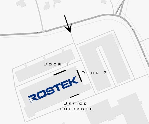 Rostek office driving instructions