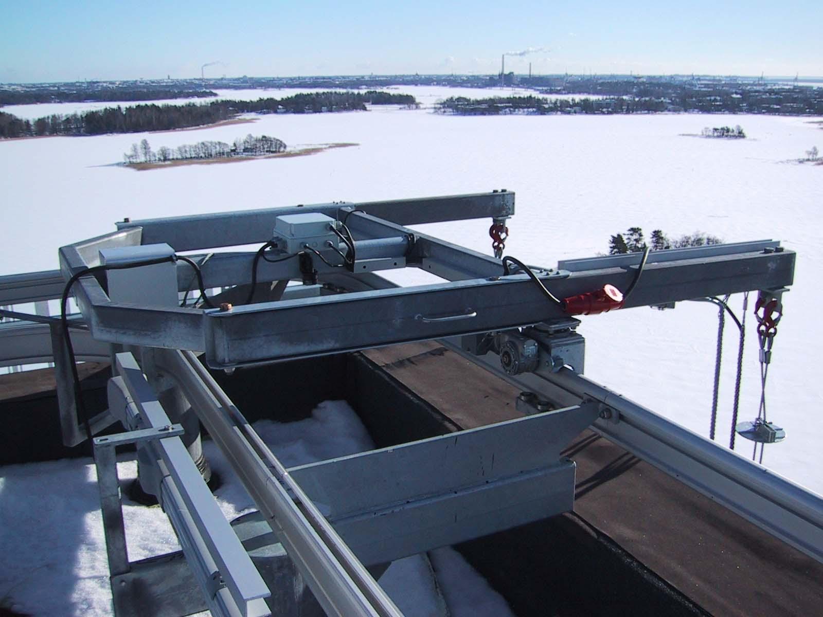 Rostek Roof Trolley During Winter